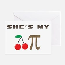 Cherry Pi Greeting Card
