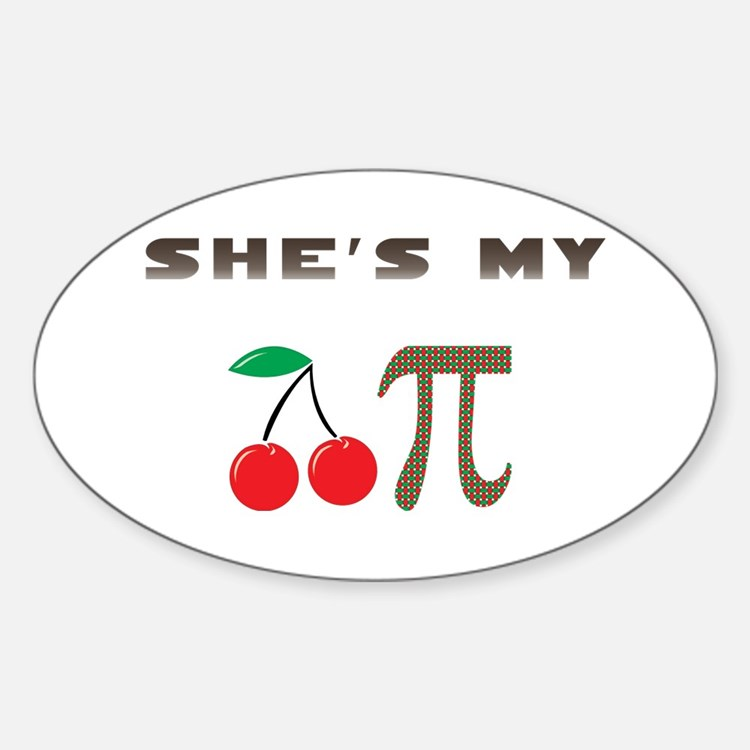 Cherry Pi Oval Decal