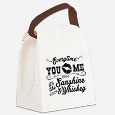 Kiss me- sunshine & whiskey Canvas Lunch Bag