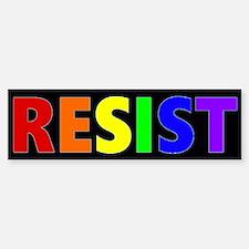 Resist Rainbow Bumper Bumper Bumper Bumper Sticker
