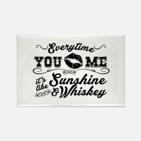 Kiss me- sunshine & whiskey Magnets
