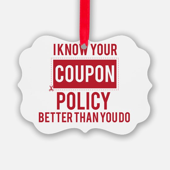 Cute Extreme couponing Ornament