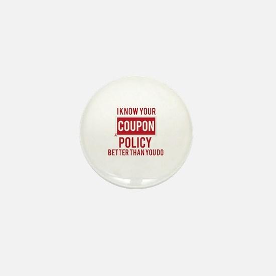 Cute Coupon Mini Button