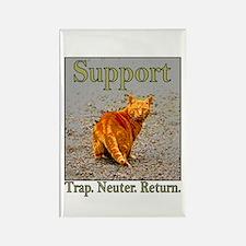 Support Trap Neuter Return Rectangle Magnet