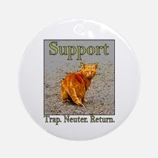 Support Trap Neuter Return Ornament (Round)