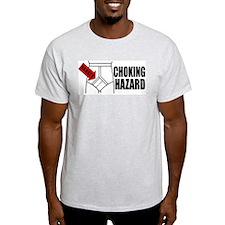 """Choking Hazard"" Ash Grey T-Shirt"