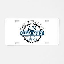 Old Guy Aluminum License Plate