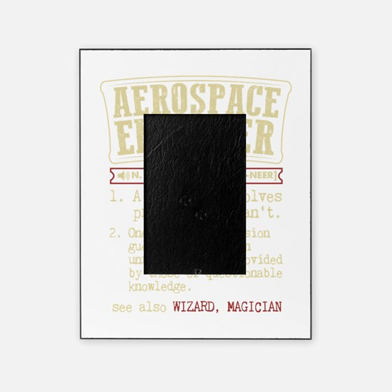 Aerospace Engineer Funny Dictionary Term Picture Frame