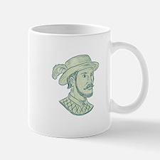 Juan Ponce de Leon Explorer Drawing Mugs