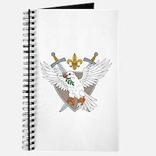 Dove Olive Leaf Sword Fleur De Lis Crest Drawing J