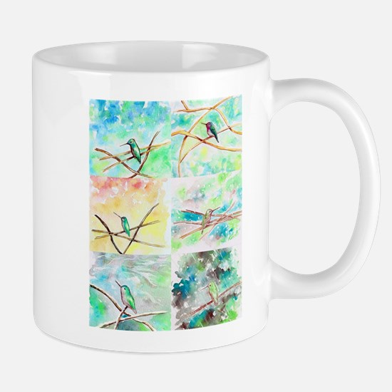Hummingbird Watercolors 2 Mugs