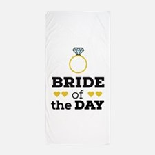 Bride of the Day Beach Towel