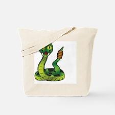 Cute Snake bite Tote Bag