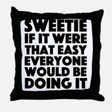Cute Edina Throw Pillow