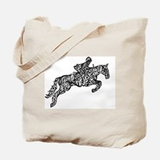 Cool Horse jockey Tote Bag