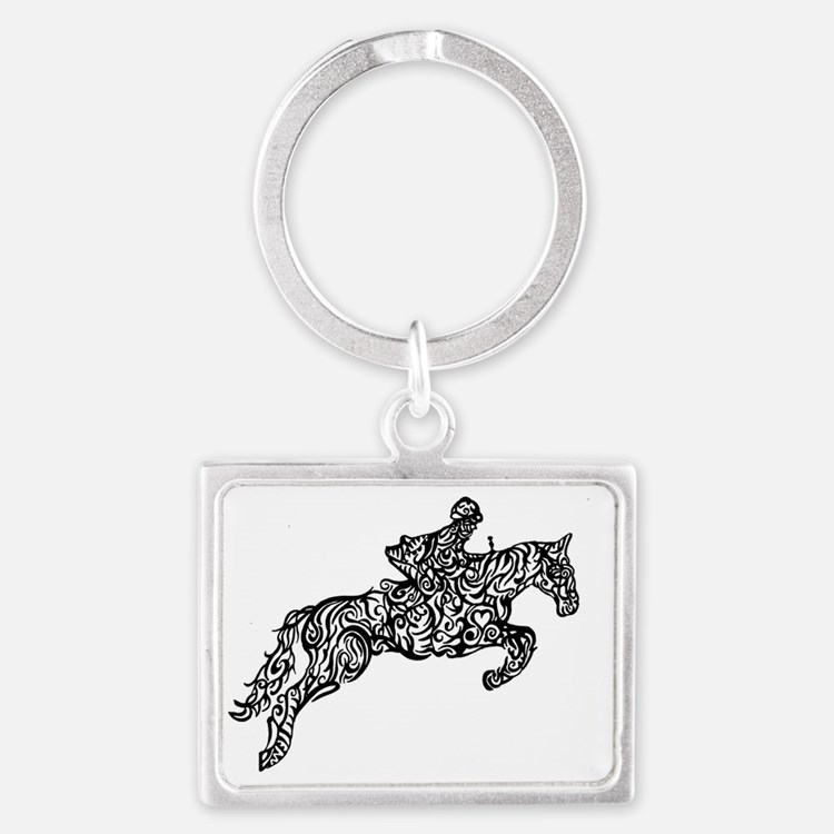 Cute Equine Landscape Keychain