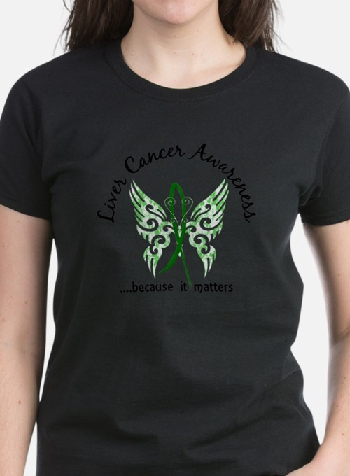 Liver Cancer Butterfly 6.1 T-Shirt
