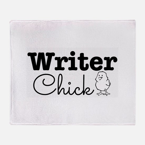 Writer Chick Throw Blanket