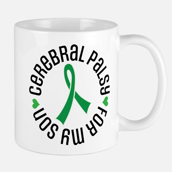 Cerebral Palsy Son Ribbon Mugs