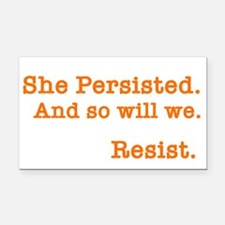 She Persisted. Rectangle Car Magnet