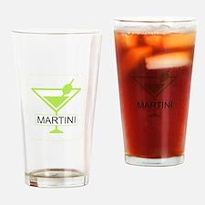 Martini Apple Green Drinking Glass