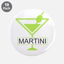 """Martini Apple Green 3.5"""" Button (10 pack)"""