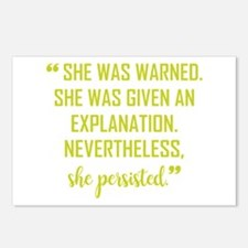 SHE PERSISTED Postcards (Package of 8)