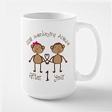 1st Anniversary Love Monkeys Mugs