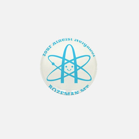 Atheist Neighbor Bozeman BLUE Mini Button (100 pac
