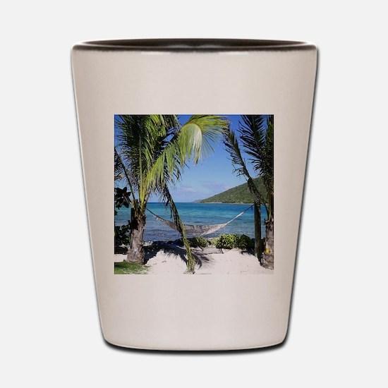 Saba Rock hamock Shot Glass