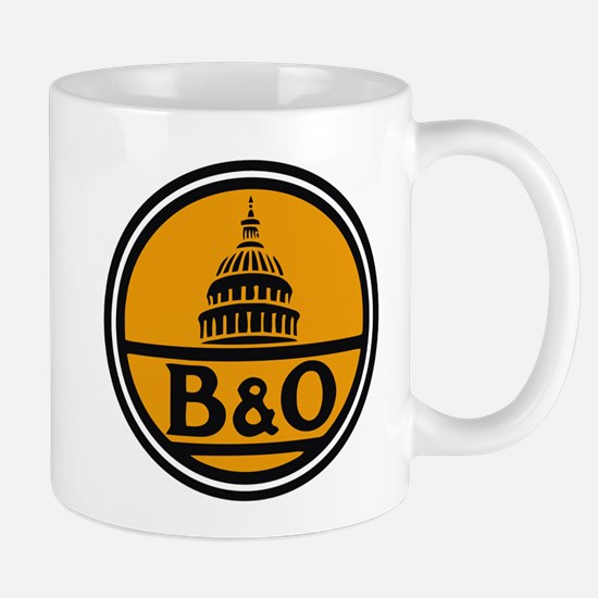 Baltimore and Ohio train logo Mugs