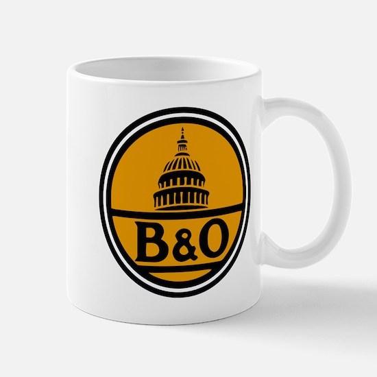 Baltimore and Ohio train logo Mugs