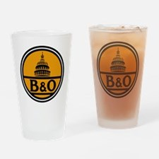 Baltimore and Ohio train logo Drinking Glass