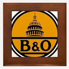 Baltimore and Ohio train logo Framed Tile