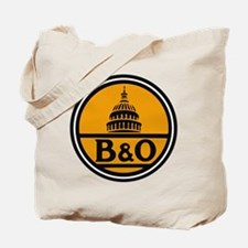Baltimore and Ohio train logo Tote Bag