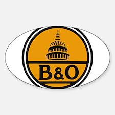 Baltimore and Ohio train logo Decal
