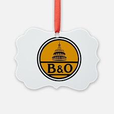 Baltimore and Ohio train logo Ornament