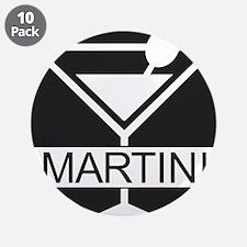 """Martini - Black 3.5"""" Button (10 pack)"""