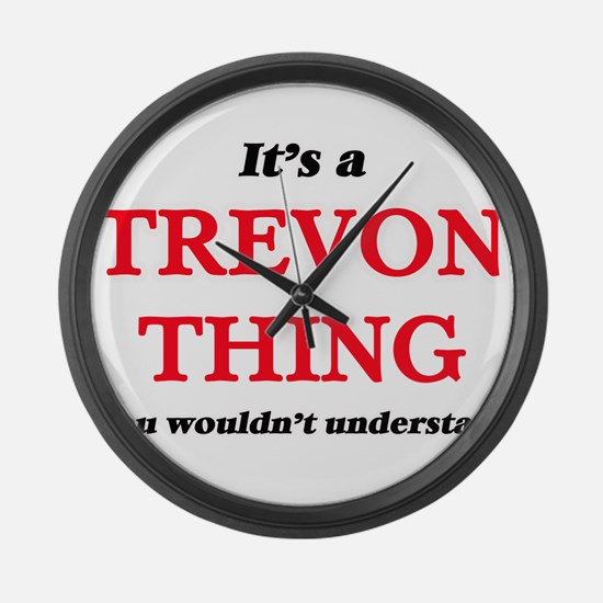 It's a Trevon thing, you woul Large Wall Clock