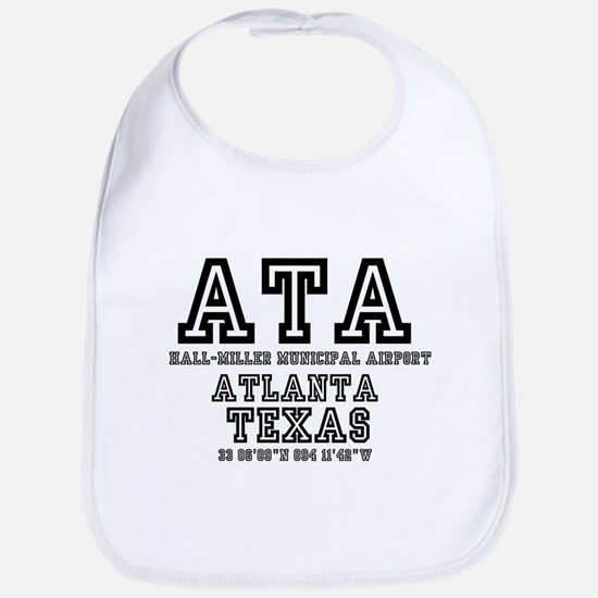 TEXAS - AIRPORT CODES - ATA - HALL~MILLER Baby Bib