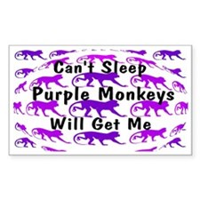Can't Sleep Monkeys Will Get Decal