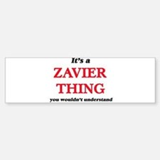 It's a Zavier thing, you wouldn Bumper Car Car Sticker