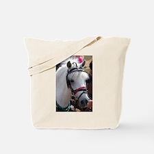 PUNKY WHITE PONY Tote Bag