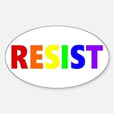 Resist 2 Rainbow Decal