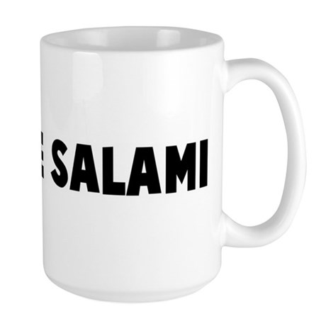 Hide the salami Large Mug