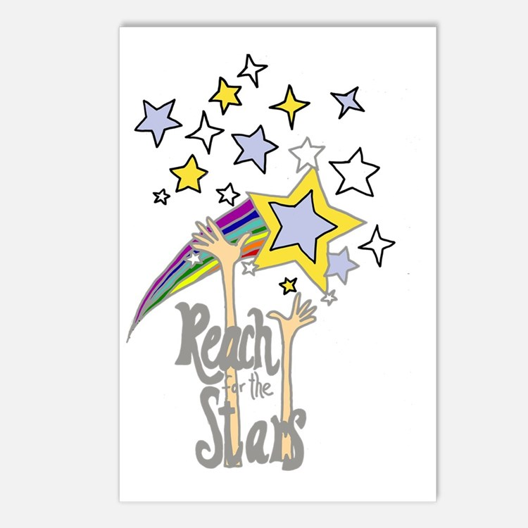 Cute Reach stars Postcards (Package of 8)
