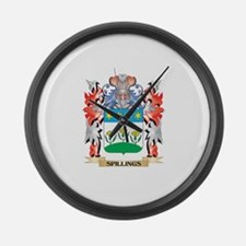 Spillings Coat of Arms - Family C Large Wall Clock