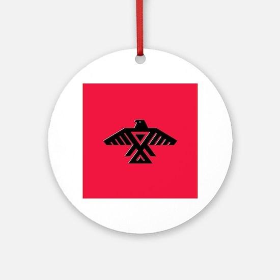 Anishinaabe Thunderbird flag Round Ornament