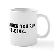How do you tell when you run  Mug