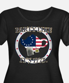 Tea Party 1773 Plus Size T-Shirt